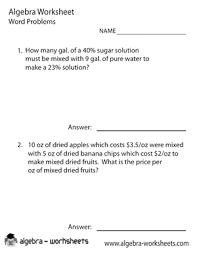 printable algebra word problems worksheets also available algebra word problems solver worksheet