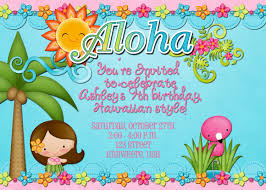 Hawaiian Luau Birthday Party Unique Hula Birthday Party Invitations