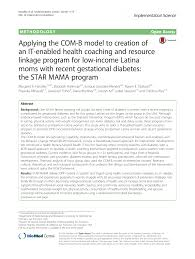 Applying The Com B Model To Creation Of An It Enabled Health
