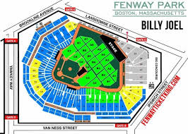 Fenway Concert Seating Chart With Seat Numbers Fenway Park Concerts Seating Chart