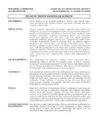 Delivery Driver Job Description Delivery Driver Food Restaurant ...