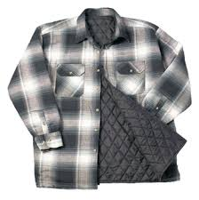 BLACK QUILTED PLAID FLANNEL WORK SHIRT &  Adamdwight.com
