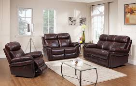 Leather Reclining Living Room Sets Shae Joplin Brown Leather Power Reclining Sofa 1555 E2117