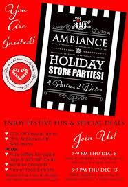 Ambiance Holiday Shopping Party Treats Raffles Haight