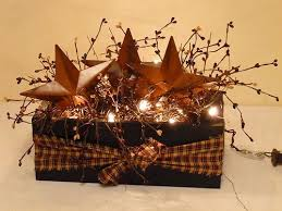Barn Star Box Berries Lights Country Primitive Decor could totally DIY this  much cheaper!