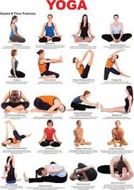 Yoga Pose Chart Poster Poster Yoga Poses Chart Educational Poster Yoga Wall