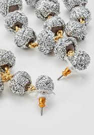 j crew knot chandelier earrings earrings metallic silver coloured gg18915