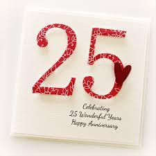 25th Anniversary Custom Card Personalised Wedding Silver Husband