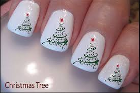 Easy Christmas Tree Nail Art Designs Ideas 2013 2014 X mas Nails 6