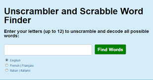 unscrambler word finder crosswords
