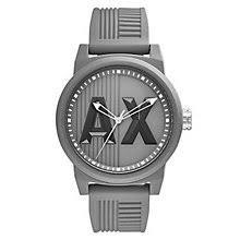 armani exchange watches uk men s ladies h samuel armani exchange grey dial grey silicone strap watch product number 6194079