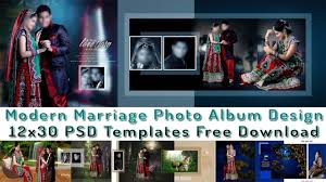 Modern Photo Album Design Modern Marriage Photo Album Design 12x30 Psd Templates Free