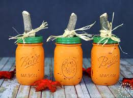 Cute Jar Decorating Ideas DIY Pumpkin Jars The Scrap Shoppe 92