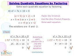 confidential 27 solving quadratic equations by factoring solve each quadratic equation by factoring