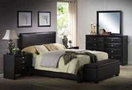 King Size Bed Frame W Faux Leather Headboard Modern Bedroom