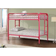 metal bunk bed. Donco Twin Over Metal Bunk Bed In Hot Pink