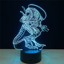 cheap mood lighting. 3d led alien vs predator lighting mood lamp 7 colors changing lamparas with usb cable cheap