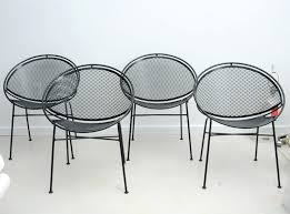modern metal outdoor furniture photo. Mid Century Wire Outdoor Chairs Modern Metal Patio I Am On A Search To Find Vintage Salterini Wrought Iron Furniture Photo O