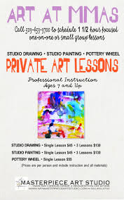 professionally instructed 1½ hour art lessons for individuals or small groups affordable cost includes instruction and all materials