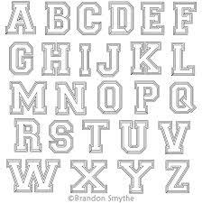 Letters In Design Varsity Letters Alphabet
