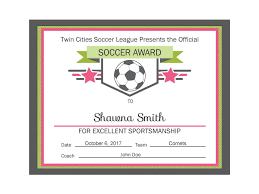 soccer awards templates free soccer award certificate templates valid editable pdf sports