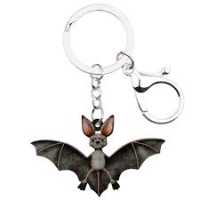 Acrylic <b>Halloween Bat</b> Key <b>Chains Ring</b> Keychains Animal Jewelry ...