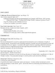 Sample Attorney Resume Legal Resume Example