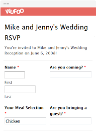 Rsvp Template Online Online Invitation Templates Wufoo