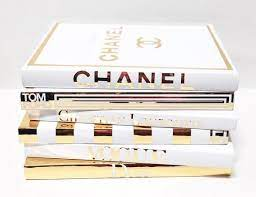 6 large coffee table books gold