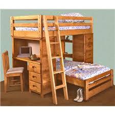 Wood Bunk Bed With Desk Trendwood Bunkhouse TwinTwin Bronco Loft
