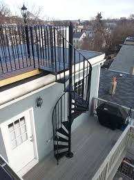 Iron Design Roofing Telegraph Hill Roof Deck With Wrought Iron Railings Spiral
