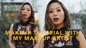 fall smokey eyes red lip makeup tutorial aimee song
