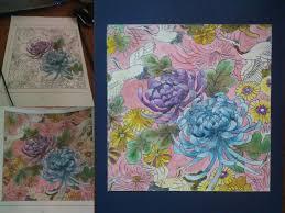 Урок росписи по ткани Аниме amino amino Цветовой эскиз
