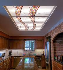 Update Kitchen Fluorescent Light Stained Glass Light Panels How To Enhance Any Space With