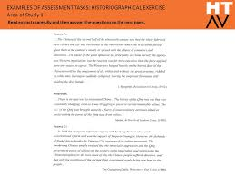 14 examples of assessment tasks historiographical exercise examples of historiographical essays