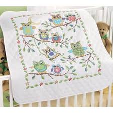63 best Cross Stitch images on Pinterest | Crosses, Embroidery ... & Baby Owls Baby Quilt Stamped Cross-Stitch Kit by Herrschners, Inc., http Adamdwight.com