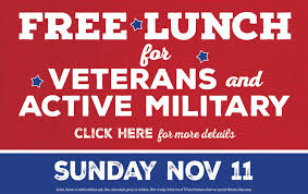 free lunch for veterans here for more info