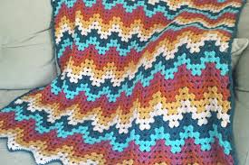 Crochet Ripple Pattern Impressive Free Crochet Ripple Stitch Blanket Patterns ⋆ Knitting Bee 48 Free