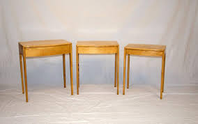 mid century modern three piece set of nesting tables by heywood wakefield for