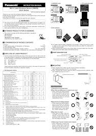 Micro Laser Distance Sensor [CMOS] HG-C Series INSTRUCTION ...