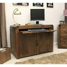 hidden home office furniture. shiva walnut hidden home office computer desk furniture m