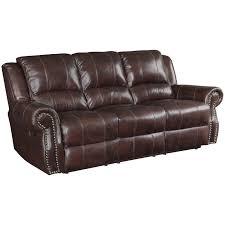 coaster sir rawlinson leather reclining