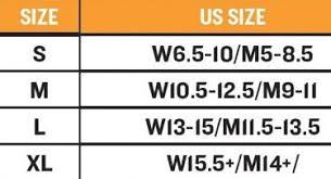 Yaktrax Pro Size Chart Yaktrax Xtr