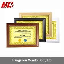 china metallic high qualitity certificate frames china whole certificate frame certificate frame