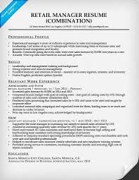 Retail Management Resume Jmckell Com