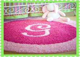 pink rug for nursery initial rugs add initial or monogram to custom baby area nursery pink rug