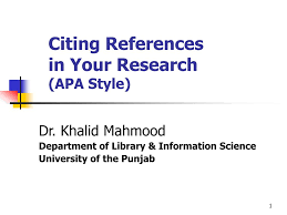 Ppt Citing References In Your Research Apa Style Powerpoint