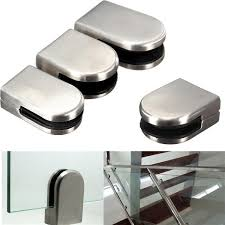 6 12mm stainless steel glass clamp bracket holder for window barade handrail