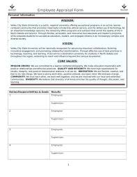 Performance Appraisal Sample Form How Annual Appraisal Template Performance Review Self