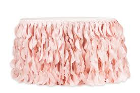 curly willow 17ft table skirt blush rose gold